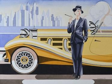 Obraz do salonu artysty Tomasz Kostecki pod tytułem Kobieta i Mercedes 3