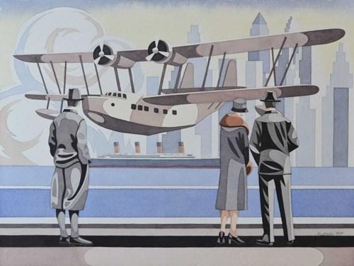 Obraz do salonu artysty Tomasz Kostecki pod tytułem Widok na Manhattan