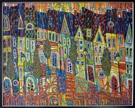Obraz do salonu artysty Rozalia Wójcik pod tytułem Jesień na Starym Mieście