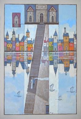 Obraz do salonu artysty Mikołaj Malesza pod tytułem Podróż