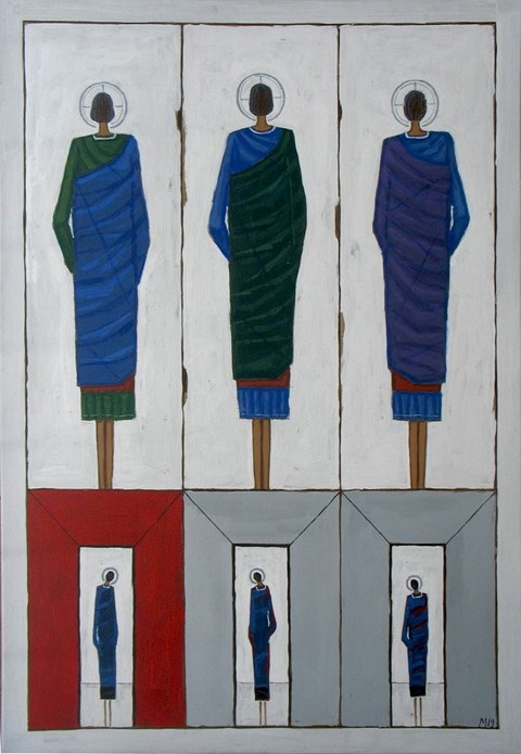 Living room painting by Mikołaj Malesza titled Transit