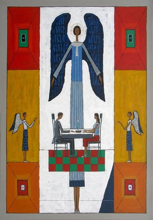 Obraz do salonu artysty Mikołaj Malesza pod tytułem Poza czasem
