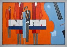 Obraz do salonu artysty Mikołaj Malesza pod tytułem Zbliżenie