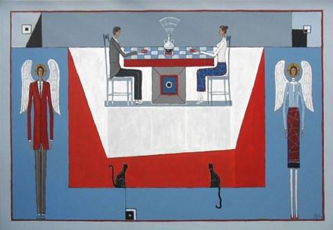 Obraz do salonu artysty Mikołaj Malesza pod tytułem Gra