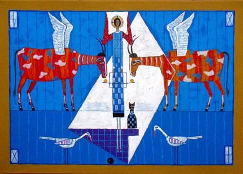 Obraz do salonu artysty Mikołaj Malesza pod tytułem Pegazy