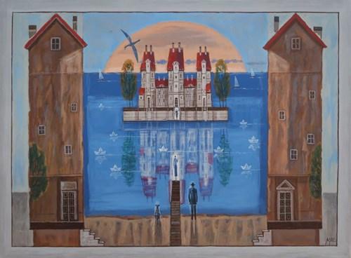Obraz do salonu artysty Mikołaj Malesza pod tytułem Z cyklu Spotkanie