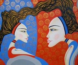 Obraz do salonu artysty Lili Fijałkowska pod tytułem Bliźniaczki 2