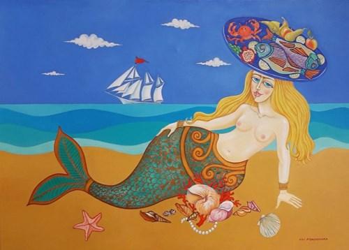 Obraz do salonu artysty Lili Fijałkowska pod tytułem Śniadanie syrenki