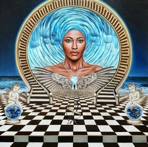 Obraz do salonu artysty Monika Krzymińska-Śluborska pod tytułem Wyrocznia