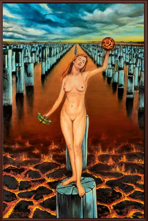 Obraz do salonu artysty Monika Krzymińska-Śluborska pod tytułem Wskrzeszenie Wenus