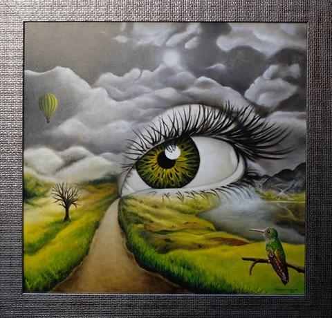 Obraz do salonu artysty Monika Krzymińska-Śluborska pod tytułem Spojrzenie