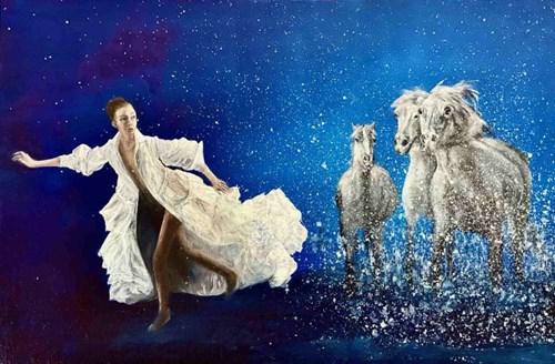 Obraz do salonu artysty Grażyna Jeżak pod tytułem Konie w galopie