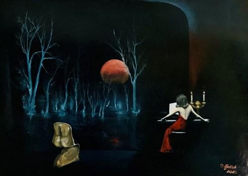 Obraz do salonu artysty Grażyna Jeżak pod tytułem Muzyka nocą