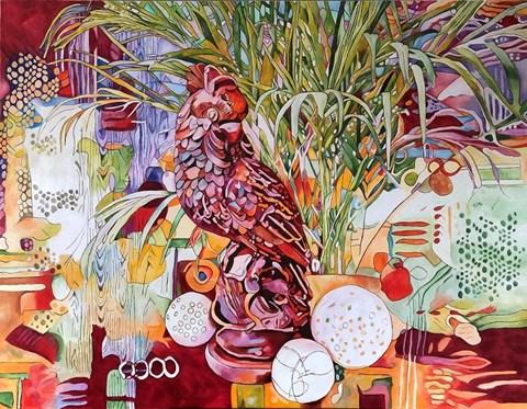 Obraz do salonu artysty Joanna Szumska pod tytułem Martwa natura z papugą