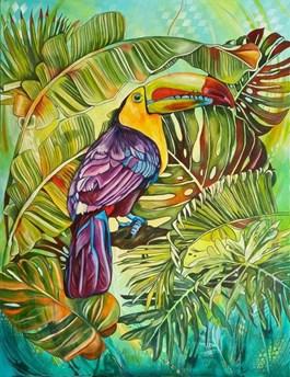 Obraz do salonu artysty Joanna Szumska pod tytułem Zielony poranek