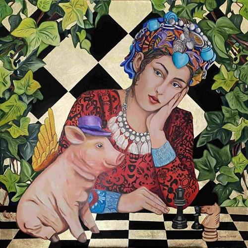 Obraz do salonu artysty Joanna Szumska pod tytułem Nierówna gra II
