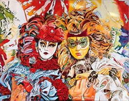 Obraz do salonu artysty Joanna Szumska pod tytułem WENECKIE KORONKI