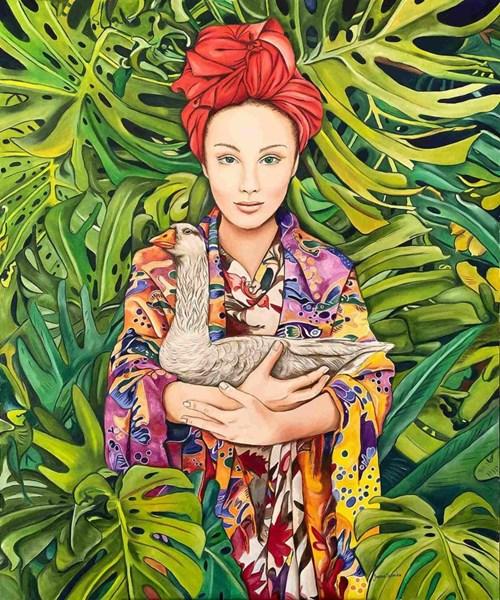 Obraz do salonu artysty Joanna Szumska pod tytułem Ogród Edenu