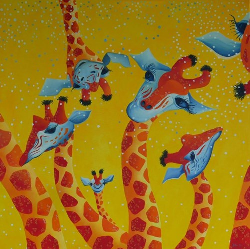 Obraz do salonu artysty Jolanta Kitowska pod tytułem Wieczór panieński