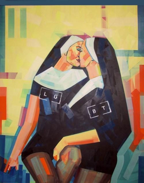 Obraz do salonu artysty Piotr Kachny pod tytułem CloSister