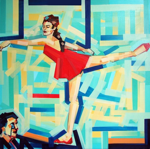 Obraz do salonu artysty Piotr Kachny pod tytułem B.allerina.B