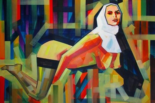 Obraz do salonu artysty Piotr Kachny pod tytułem Nun_Profit
