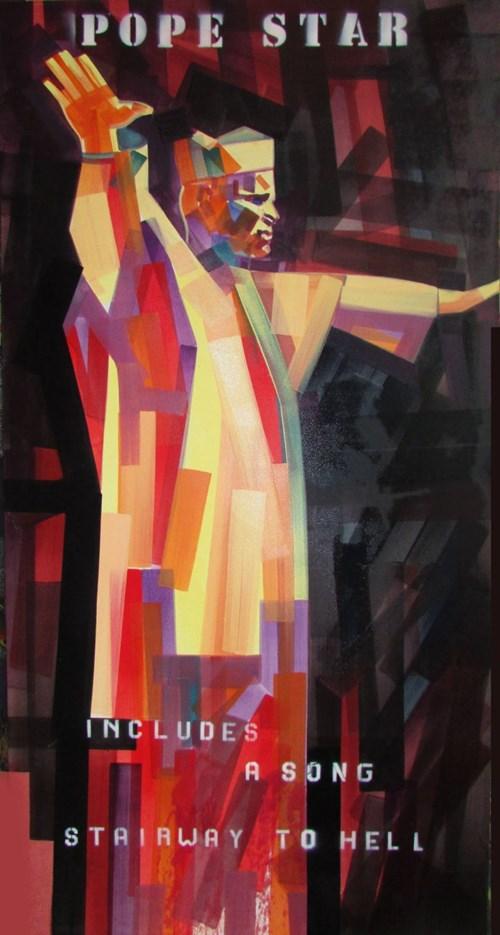 Obraz do salonu artysty Piotr Kachny pod tytułem Live in Vatican (A.D. 666)