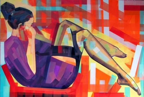 Obraz do salonu artysty Piotr Kachny pod tytułem Viva de Serpent, Viva the Apple