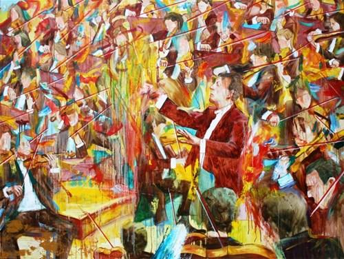 Obraz do salonu artysty Cyprian Nocoń pod tytułem Don Kichot