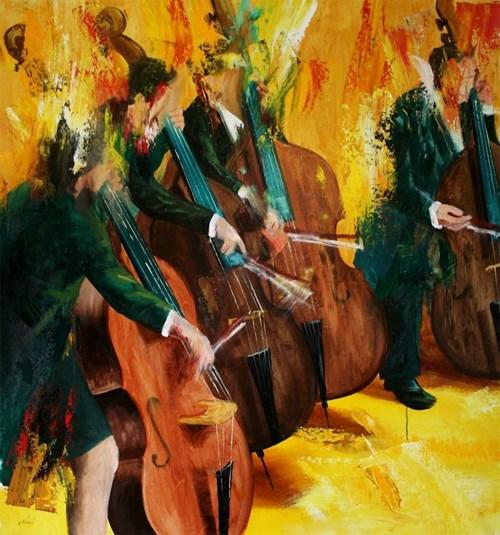 Obraz do salonu artysty Cyprian Nocoń pod tytułem Allegretto