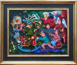 Obraz do salonu artysty Jacek Lipowczan pod tytułem Our leader, lead us! Wodzu prowadź nas!