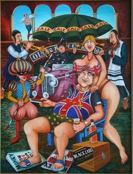 Obraz do salonu artysty Jacek Lipowczan pod tytułem Jak żyć, jak żyć panie premierze…,
