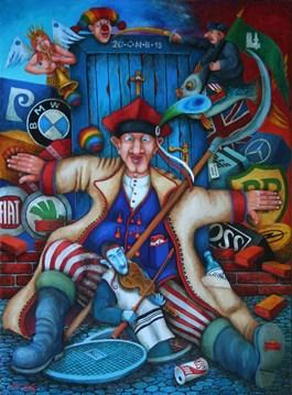 Obraz do salonu artysty Jacek Lipowczan pod tytułem Rejtan 2019 - No Pasaran!