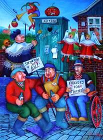 Obraz do salonu artysty Jacek Lipowczan pod tytułem Bohaterowie są zmęczeni
