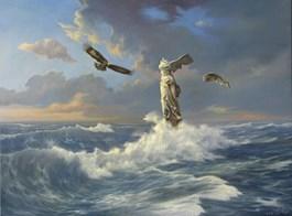 Obraz do salonu artysty Wiesław Król pod tytułem Pantha Rei