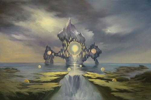 Obraz do salonu artysty Wiesław Król pod tytułem Sacrprof