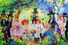 Living room painting by Dariusz Grajek titled Spring Holiday