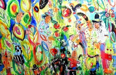 Obraz do salonu artysty Dariusz Grajek pod tytułem Raj