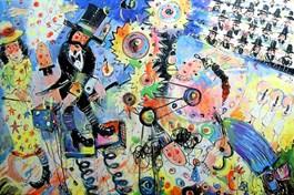 Obraz do salonu artysty Dariusz Grajek pod tytułem Iluzjonista