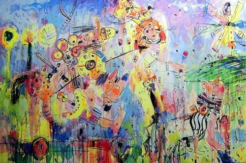 Obraz do salonu artysty Dariusz Grajek pod tytułem Uwolnienie księżniczki