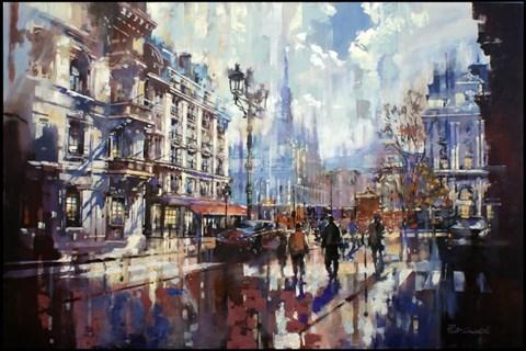 Obraz do salonu artysty Piotr Zawadzki pod tytułem Metropolis. Paris Dream III