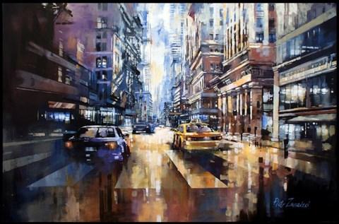 Obraz do salonu artysty Piotr Zawadzki pod tytułem Metropolis, Soho-Manhattan