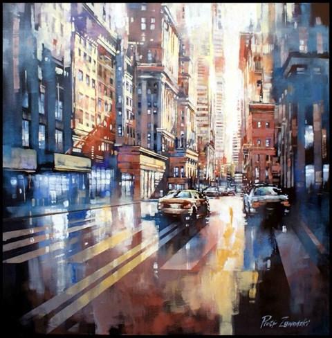 Obraz do salonu artysty Piotr Zawadzki pod tytułem Metropolis - New York City Gold