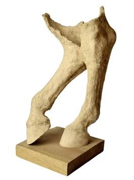 Living room sculpture by Ewa Jaworska titled Legs