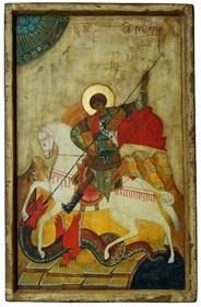 Obraz do salonu artysty Ewa Jaworska pod tytułem Ikona - św. Jerzy