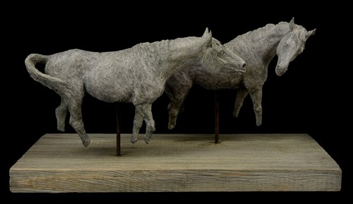 Living room sculpture by Ewa Jaworska titled You're Going