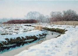Obraz do salonu artysty Wojciech Piekarski pod tytułem Zimowy krajobraz