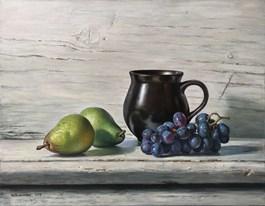 Obraz do salonu artysty Wojciech Piekarski pod tytułem Martwa natura z gruszkami