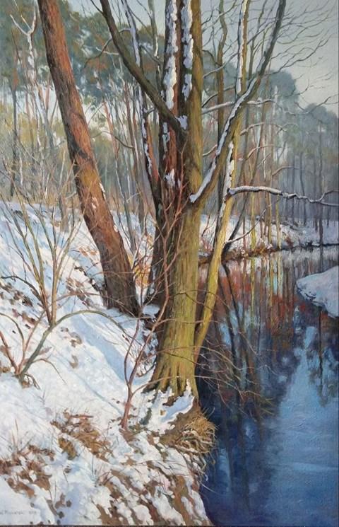 Obraz do salonu artysty Wojciech Piekarski pod tytułem Zimowia Grabia