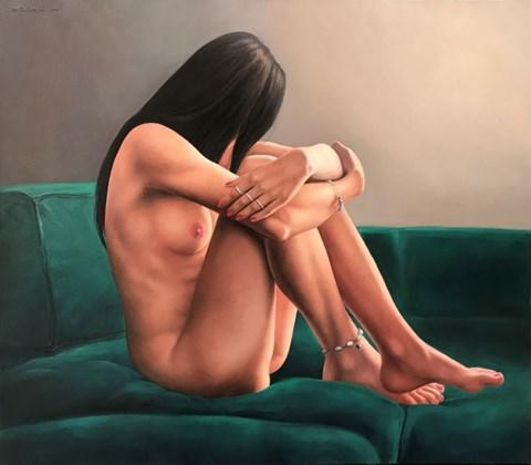 Obraz do salonu artysty Wojciech Piekarski pod tytułem Samotność na sofie